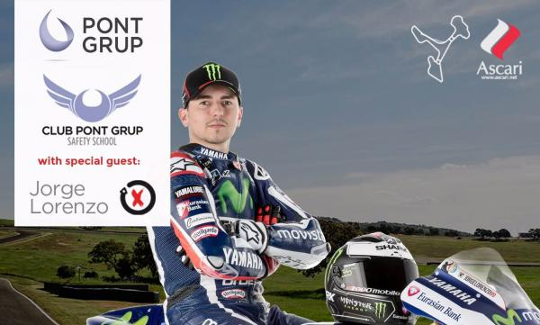 Jorge Lorenzo Monitor de lujo en el Club Pont Grup Safety School